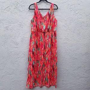 Colorful sleeveless maxi dress Faded Glory